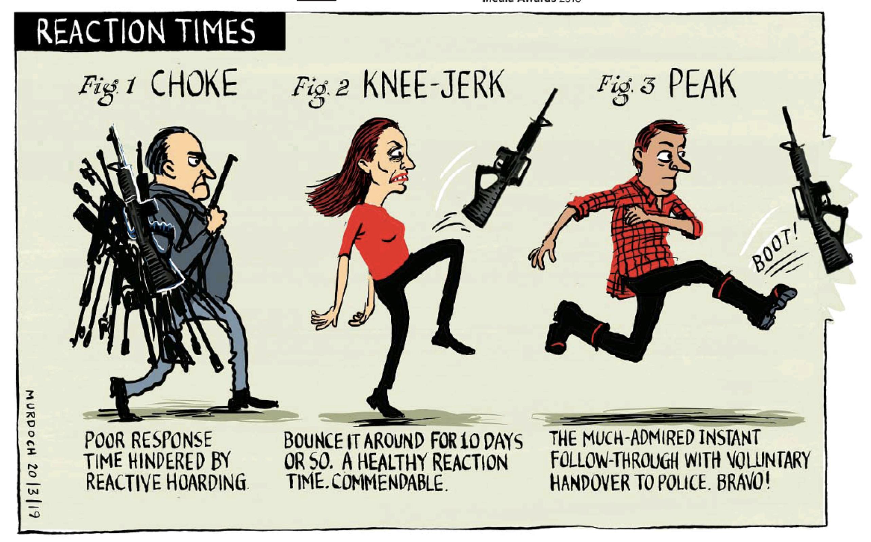 Image result for ardern gun control satire