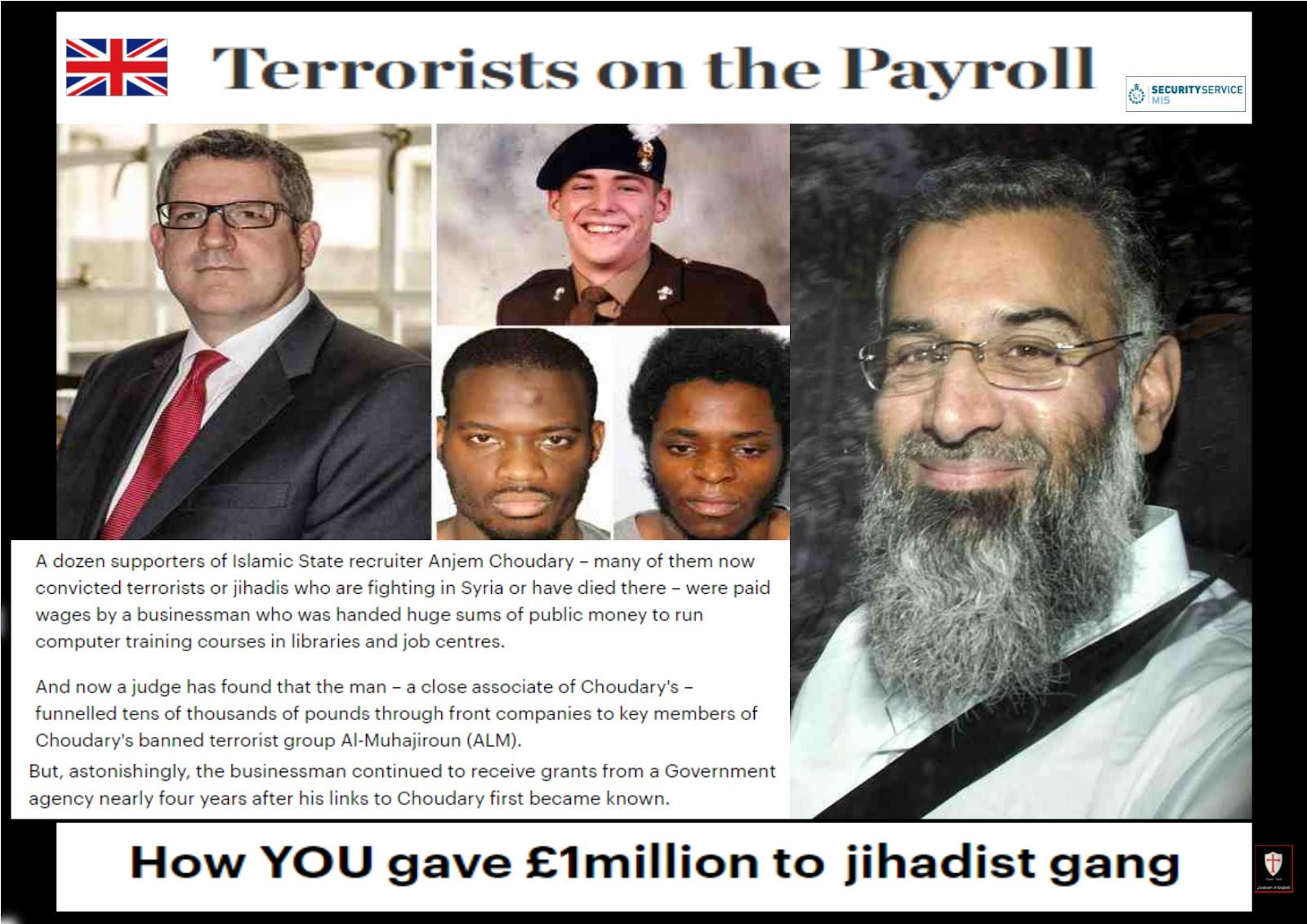 Image result for Anjem Choudary mi5