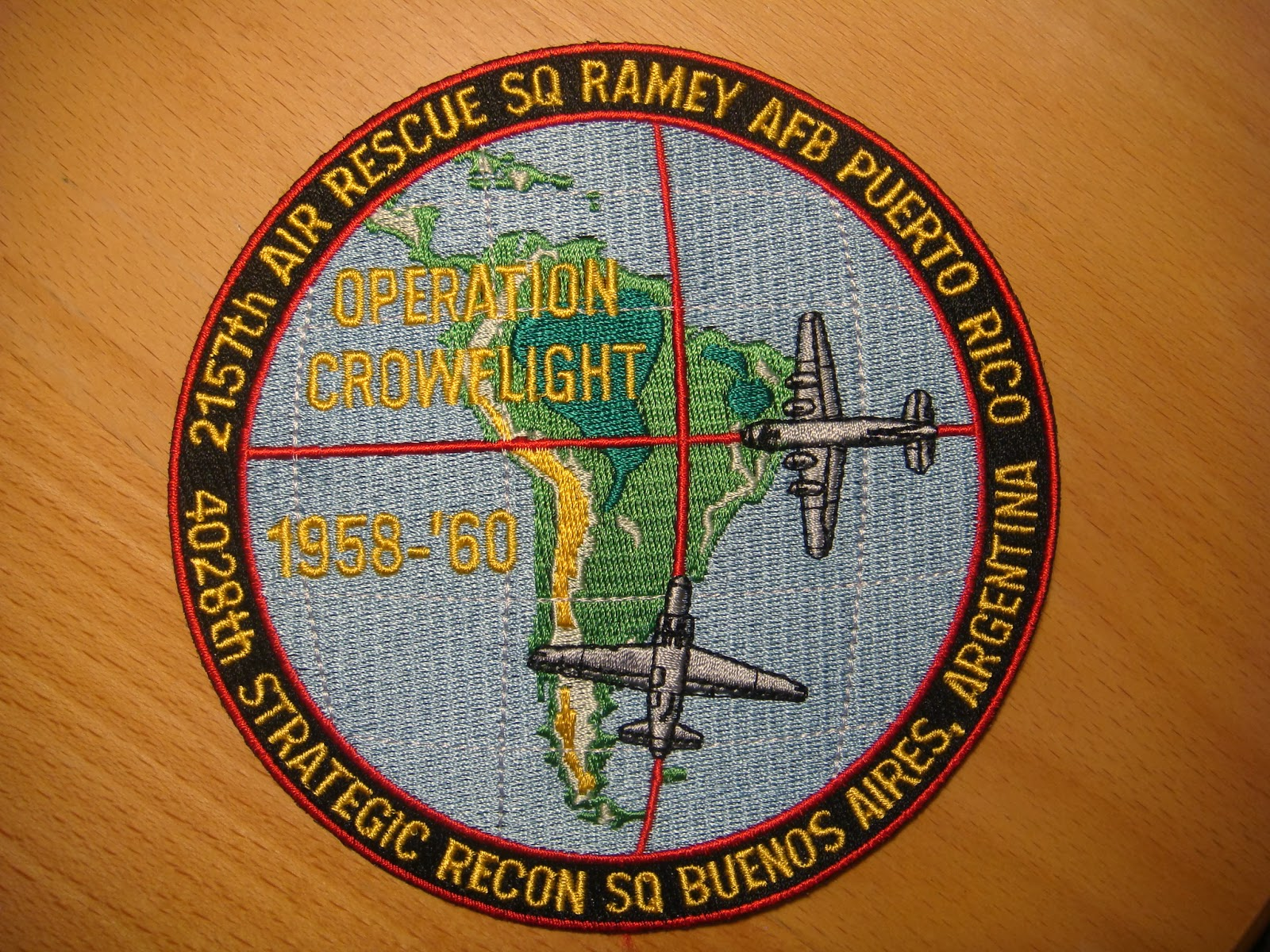 THE USAF RESCUE COLLECTION: USAF 2157th ARS / 4028th SRS / Operation  Crowflight Patch Set